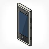 Isometrisk telefonsymbol Arkivbilder