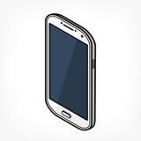 Isometrisk telefonsymbol Royaltyfria Foton