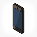 Isometrisk telefonsymbol Royaltyfria Bilder