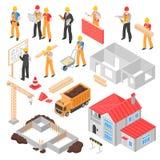 Isometrisk uppsättning för konstruktion stock illustrationer