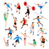 Isometrisk uppsättning för sport Royaltyfri Bild