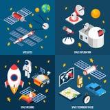 Isometrisk utforskning av rymden royaltyfri illustrationer