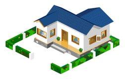 isometrisk vektor för hus Arkivfoton