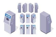 Isometriska ATMs royaltyfri foto
