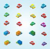 Isometriska bilar Fotografering för Bildbyråer