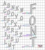 Isometriska bokstäver med fallande skugga Arkivfoto