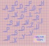 Isometriska bokstäver med fallande skugga Arkivbilder