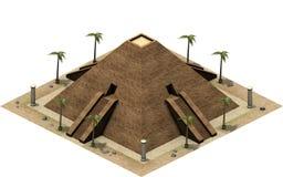 Isometriska byggnader av forntida Egypten, stor pyramid framförande 3d stock illustrationer