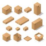 Isometriska kartonger Royaltyfria Foton