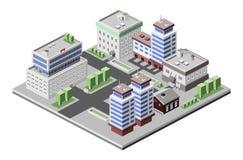 Isometriska kontorsbyggnader Arkivbild