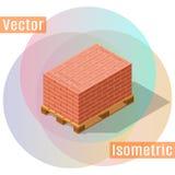 Isometriska paletttegelstenar vektor illustrationer