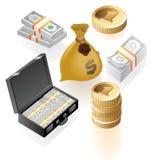 isometriska pengar för symboler royaltyfri illustrationer