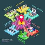 Isometriska SEO Concept 3D stock illustrationer