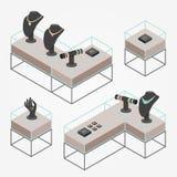 Isometriska smycken shoppar Fotografering för Bildbyråer