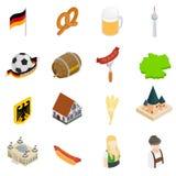 Isometriska symboler 3d för Tyskland Royaltyfria Bilder