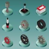 Isometriska symboler för bildelfärg Royaltyfri Bild
