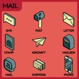 Isometriska symboler för postfärgöversikt Royaltyfri Bild
