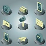 Isometriska symboler för postfärg Royaltyfri Bild
