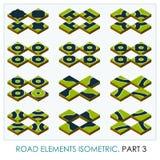 Isometriska vägbeståndsdelar stock illustrationer