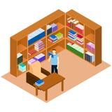 Isometriskt arkiv book manavläsning Bekvämt ställe för rea Arkivfoto
