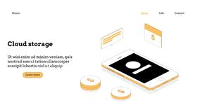 Isometriskt begrepp för modern plan design av molnteknologi stock illustrationer
