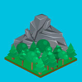 Isometriskt berglandskap Royaltyfri Foto