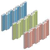 Isometriskt bostads- hus Arkivfoto