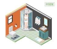 Isometriskt designbegrepp för hygien royaltyfri illustrationer