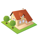 isometriskt hus Royaltyfri Fotografi
