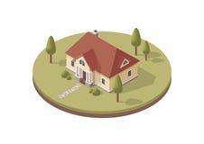 isometriskt hus Fotografering för Bildbyråer