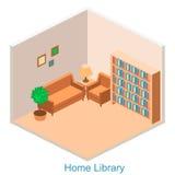 Isometriskt inre hem- arkiv Arkivfoto