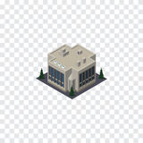 Isometriskt isolerat kontor Företagsvektorbeståndsdelen kan användas för Kontor, Företag som bygger designbegrepp vektor illustrationer