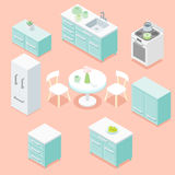 Isometriskt kök Arkivbild