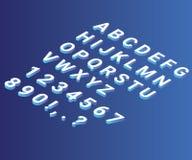 Isometriskt konstverk av bokstaven från A-Z Illustration stock illustrationer