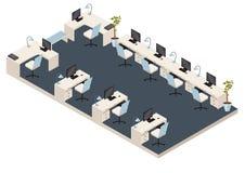 Isometriskt kontorsrum Arkivbild