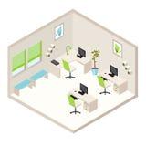 Isometriskt kontorsrum Arkivbilder