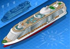 Isometriskt kryssningskepp i Front View Royaltyfri Foto