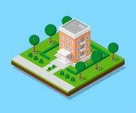 Isometriskt lägenhethus Arkivbild
