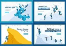 Isometriskt ledarskap, motivation, m?lr?relse stock illustrationer