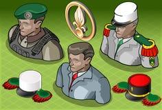 Isometriskt Militar för utländsk legion folk vektor illustrationer