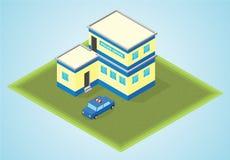 Isometriskt poliskontor Arkivbild