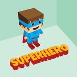Isometriskt tema för fantastisk superhero Arkivbild
