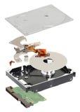 Isometry αποσυντεθειμένος σκληρός δίσκος σε ένα άσπρο υπόβαθρο Στοκ Εικόνες