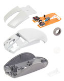 Isometry αποσυντεθειμένο ποντίκι υπολογιστών που απομονώνεται στο άσπρο υπόβαθρο Στοκ φωτογραφία με δικαίωμα ελεύθερης χρήσης