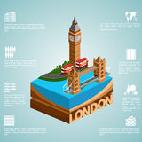 Isometry city London Stock Photography