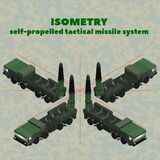 Isometry 3D operational tactical missile system in green protective color