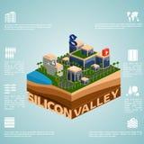 Isometry Silicon Valley Photo libre de droits