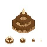Isopixel Cake Royalty Free Stock Photos