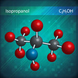 Isopropanol molecules Royalty Free Stock Photos