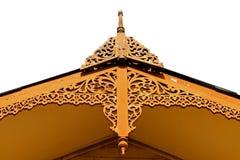 Isosceles lace roof thai style of house Stock Photo